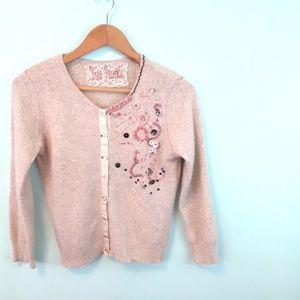 Free People Button Sweater Cardigan Tan